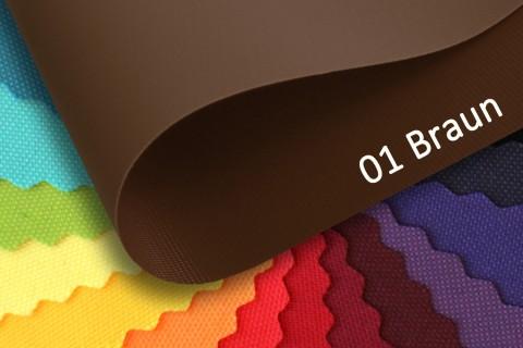 novely® OXFORD PRO Polyester Stoff | anschmiegsam | Farbe 01 Braun