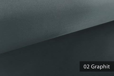 novely® OXFORD LIGHT | 1 lfm | Reißfester Outdoorstoff | Wasserabweisend | Umhang | Abdeckung | 02 Graphit