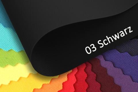 novely® OXFORD 210D Polyester Stoff | anschmiegsam | Farbe 03 Schwarz