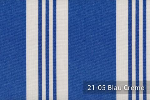 novely®  ARAGON DUO CORDOBA | Premium Outdoor Stoff | 100% dralon® | Baumwoll-Optik | lichtecht | UV beständig | 21-05 Blau Creme