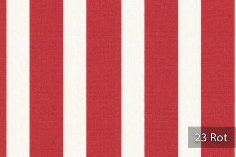 novely®  ARAGON DUO LLORET | Premium Outdoor Stoff | 100% dralon® | Baumwoll-Optik | lichtecht | UV beständig | 23 Rot