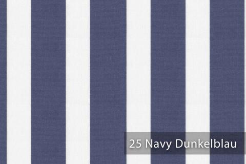novely®  ARAGON DUO LLORET | Premium Outdoor Stoff | 100% dralon® | Baumwoll-Optik | lichtecht | UV beständig | 25 Navy Dunkelblau