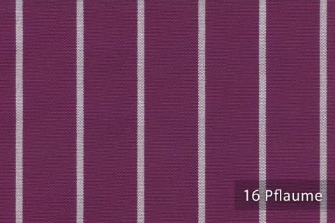 novely®  ARAGON DUO TOLEDO | Premium Outdoor Stoff | 100% dralon® | Baumwoll-Optik | lichtecht | UV beständig | 16 Pflaume