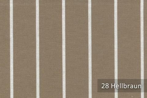 novely®  ARAGON DUO TOLEDO | Premium Outdoor Stoff | 100% dralon® | Baumwoll-Optik | lichtecht | UV beständig | 28 Hellbraun