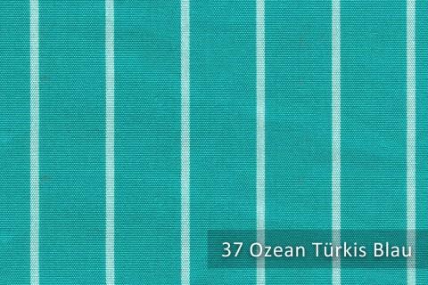 novely®  ARAGON DUO TOLEDO | Premium Outdoor Stoff | 100% dralon® | Baumwoll-Optik | lichtecht | UV beständig | 37 Ozean Türkis Blau
