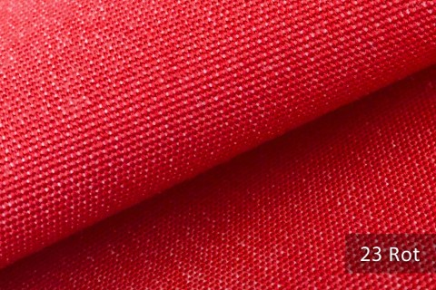 novely® ARAGON WASSERABWEISEND | Premium Outdoor Stoff | 100% dralon® | Baumwoll-Optik | lichtecht | UV-beständig | 23 Rot