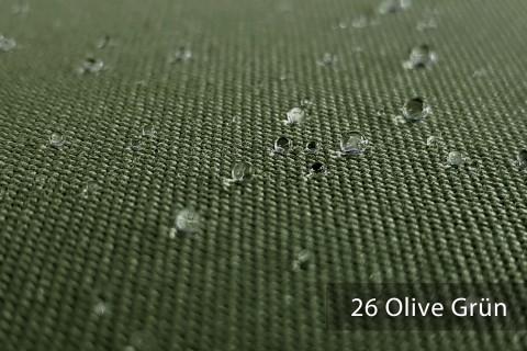 novely® ARAGON WASSERABWEISEND | Premium Outdoor Stoff | 100% dralon® | Baumwoll-Optik | lichtecht | UV-beständig* | 26 Olive Grün