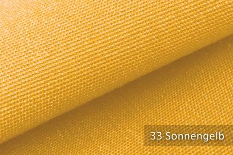 novely® ARAGON WASSERABWEISEND | Premium Outdoor Stoff | 100% dralon® | Baumwoll-Optik | lichtecht | UV-beständig | 33 Sonnengelb