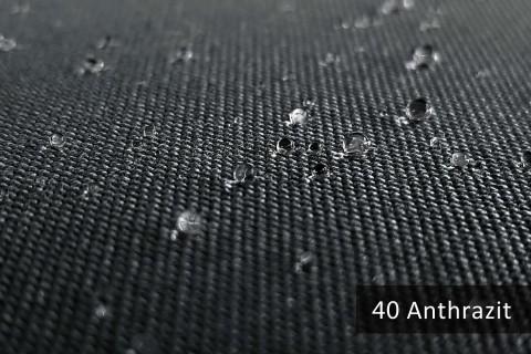 novely® ARAGON WASSERABWEISEND | Premium Outdoor Stoff | 100% dralon® | Baumwoll-Optik | lichtecht | UV-beständig | 40 Anthrazit