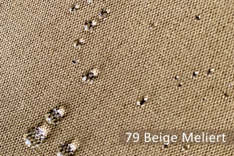 novely®  ARAGON WATERPROOF   Premium Outdoor Stoff   100% dralon®   Baumwoll-Optik   lichtecht   UV beständig   79 Beige Meliert