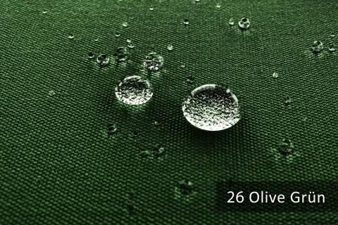 novely®  ARAGON WATERPROOF | Premium Outdoor Stoff | 100% dralon® | Baumwoll-Optik | lichtecht | UV beständig | 26 Olive Grün