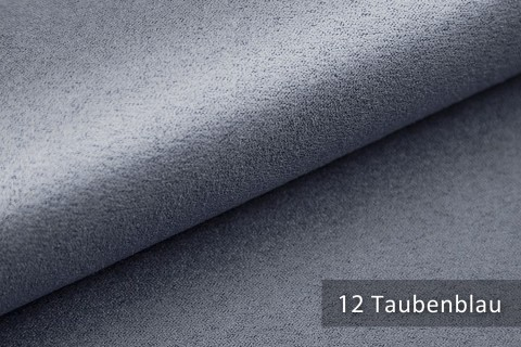 novely® ALPEN | Microfaser in Wildleder-Look | Polsterstoff | Farbe 12 Taubenblau