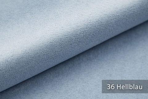 novely® ALPEN | Microfaser in Wildleder Look | Polsterstoff | Farbe 36 Hellblau