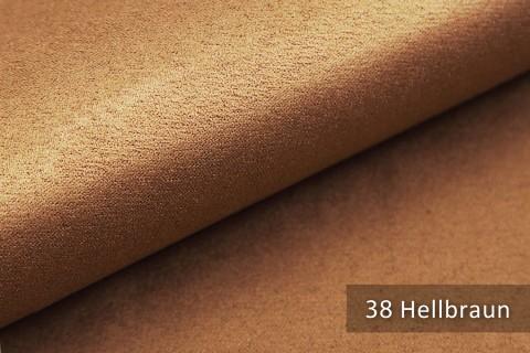 novely® ALPEN | Microfaser in Wildleder Look | Polsterstoff | Farbe 38 Hellbraun