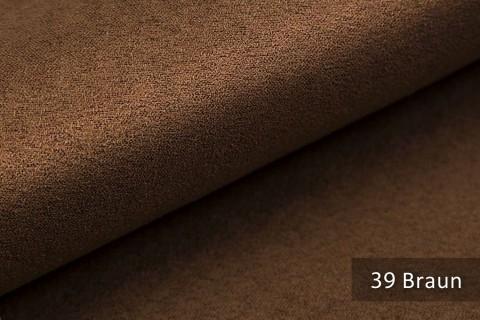 novely® ALPEN | Microfaser in Wildleder-Look | Polsterstoff | Farbe 39 Braun