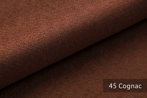 novely® ALPEN   Microfaser in Wildleder-Look   Polsterstoff   Farbe 45 Cognac