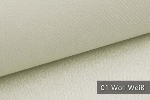 novely® ARTENA - Möbelstoff, Velours, samtig weicher Polsterstoff | Farbe 01 Woll Weiß