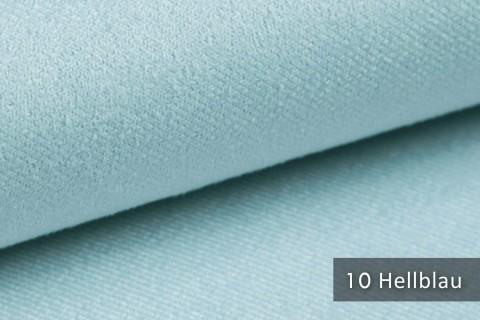 novely® ARTENA - Möbelstoff, Velours, samtig weicher Polsterstoff | Farbe 10 Hellblau