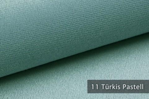 novely® ARTENA - Möbelstoff, Velours, samtig weicher Polsterstoff | Farbe 11 Türkis Pastell
