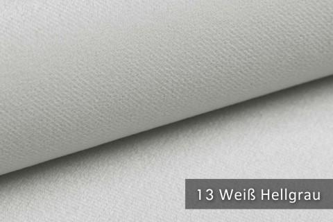 novely® ARTENA - Möbelstoff, Velours, samtig weicher Polsterstoff | Farbe 13 Weiß Hellgrau