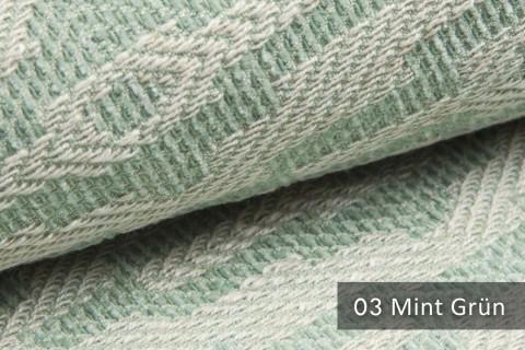 novely® exquisit ATTRACTO - Polsterstoff mit Atztekenmuster, Leinenstruktur, schwer entflammbar | 03 Mint Grün