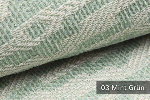 novely® ATTRACTO  Design-Polsterstoff | 3D Leinenstruktur | schwer entflammbar | 03 Mint Grün