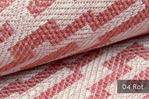 novely® ATTRACTO  Design-Polsterstoff | 3D Leinenstruktur | schwer entflammbar | 04 Rot
