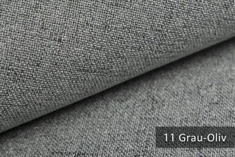 novely® AUEN Webstoff | Polsterstoff | Farbe 11 Grau Olive