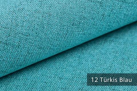 novely® AUEN Webstoff | Polsterstoff | Farbe 12 Türkis Blau