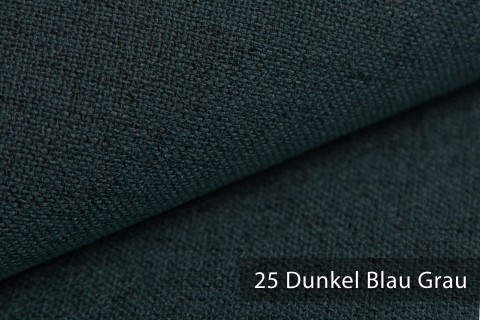 novely® AUEN Webstoff | Polsterstoff | Farbe 25 Dunkel Blau Grau