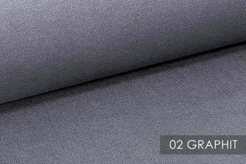novely® BRION Mittelschwerer Köper Twill Segeltuch Baumwolle Mischgewebe Stoff |  Berufskleidung | Polsterstoff | 02 Graphit