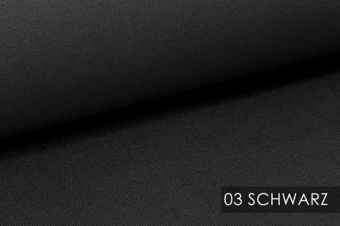novely® BRION Mittelschwerer Köper Twill Segeltuch Baumwolle Mischgewebe Stoff |  Berufskleidung | Polsterstoff | 03 Schwarz