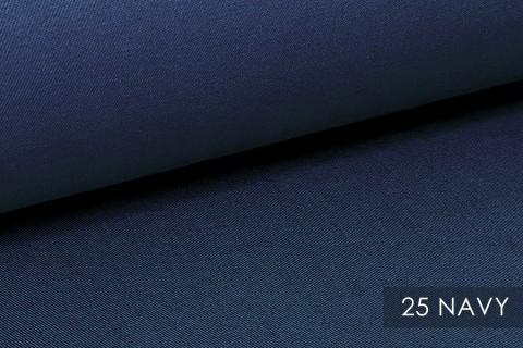 novely® BRION Mittelschwerer Köper Twill Segeltuch Baumwolle Mischgewebe Stoff |  Berufskleidung | Polsterstoff | 25 Navy
