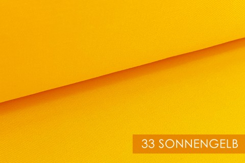 novely® BRION Mittelschwerer Köper Twill Segeltuch Baumwolle Mischgewebe Stoff |  Berufskleidung | Polsterstoff | 33 Sonnengelb