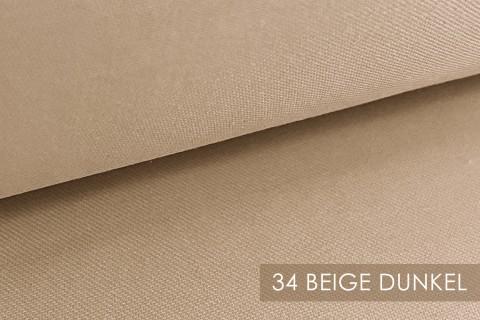 novely® BRION Mittelschwerer Köper Twill Segeltuch Baumwolle Mischgewebe Stoff |  Berufskleidung | Polsterstoff | 34 Beige Dunkel