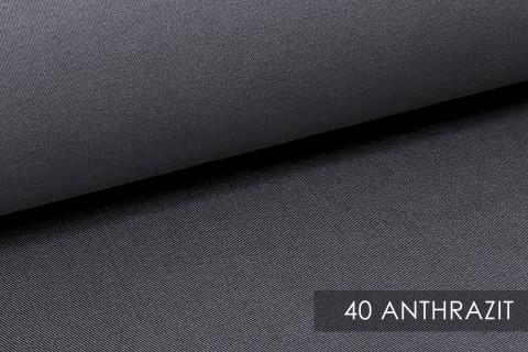 novely® BRION Mittelschwerer Köper Twill Segeltuch Baumwolle Mischgewebe Stoff |  Berufskleidung | Polsterstoff | 40 Anthrazit