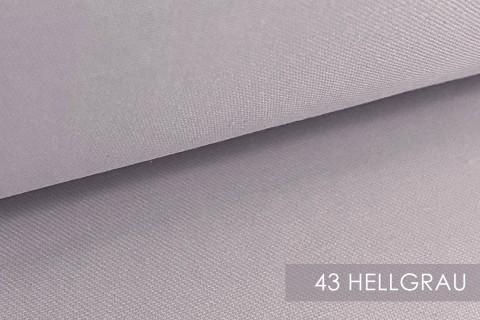 novely® BRION Mittelschwerer Köper Twill Segeltuch Baumwolle Mischgewebe Stoff |  Berufskleidung | Polsterstoff | 43 Hellgrau