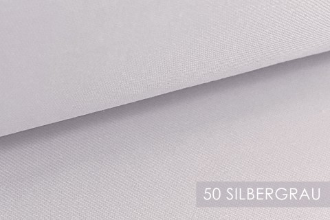 novely® BRION Mittelschwerer Köper Twill Segeltuch Baumwolle Mischgewebe Stoff |  Berufskleidung | Polsterstoff | 50 Silbergrau