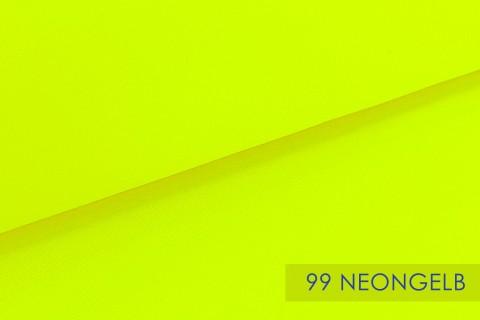 novely® BRION Mittelschwerer Köper Twill Segeltuch Baumwolle Mischgewebe Stoff |  Berufskleidung | Polsterstoff | 99 Neongelb