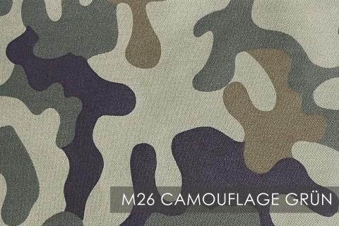 novely® BRION Mittelschwerer Köper Twill Segeltuch Baumwolle Mischgewebe Stoff |  Berufskleidung | Polsterstoff | M26 Camouflage