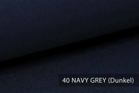 novely® PROVENT Schwerer Twill | 100%  Baumwolle | Reißfester Stoff | Polsterstoff Segeltuch Schutzbekleidung | 40 Navy Grey (Dunkel)
