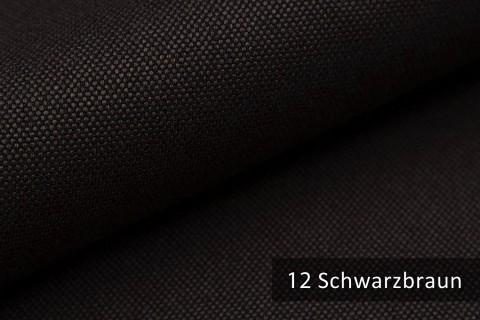 novely® BALTRUM Webstoff | Polsterstoff | Farbe 12 Schwarzbraun