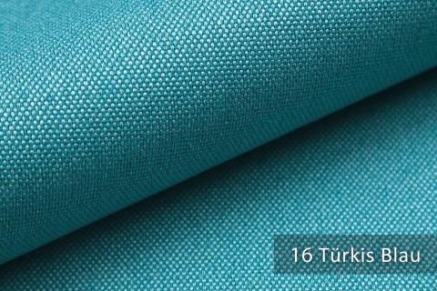 novely® BALTRUM Webstoff | Polsterstoff | Farbe 16 Türkis Blau
