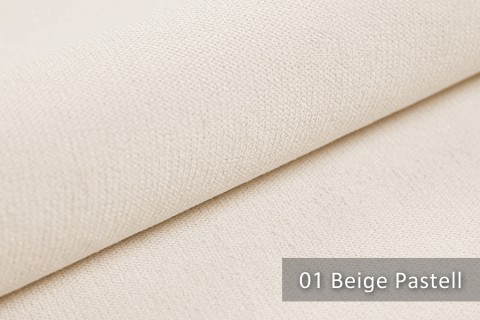 novely® BELL | Chenille Möbelstoff | Polsterstoff | Farbe 01 Beige Pastell