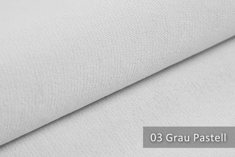 novely® BELL | Chenille Möbelstoff | Polsterstoff | Farbe 03 Grau Pastell