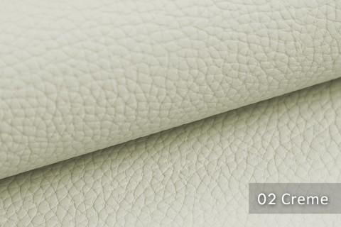 novely® BINAU luxuriöser hochwertiger Mix aus Kunstleder und Echtleder-Fasern 02 Creme