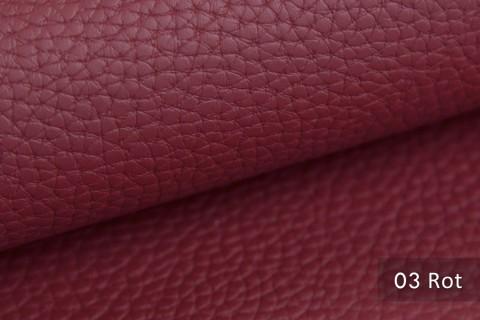 novely® BINAU luxuriöser hochwertiger Mix aus Kunstleder und Echtleder-Fasern 03 Rot
