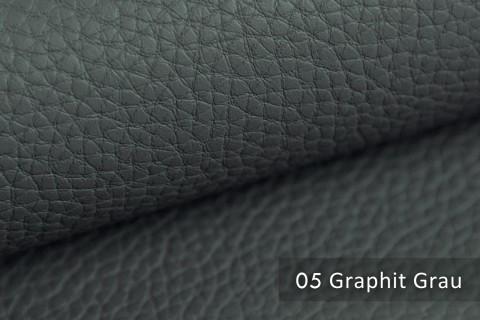 novely® BINAU luxuriöser hochwertiger Mix aus Kunstleder und Echtleder-Fasern 05 Graphit Grau