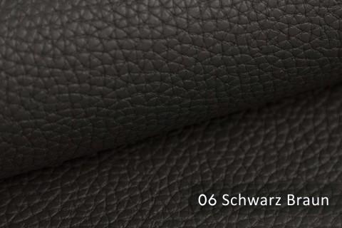 novely® BINAU luxuriöser hochwertiger Mix aus Kunstleder und Echtleder-Fasern 06 Schwarz Braun