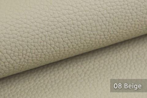 novely® BINAU luxuriöser hochwertiger Mix aus Kunstleder und Echtleder-Fasern 08 Beige